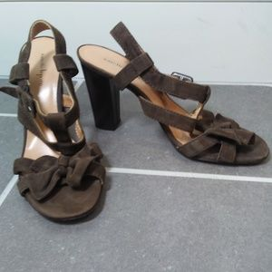 Nanette Lepore Strappy Suede with Buckles and Bows